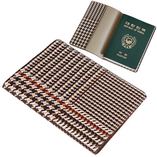 고급체크 여권지갑