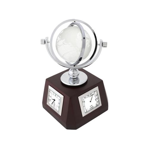 미니 원목 크리스탈 탁상시계(소) AP-259