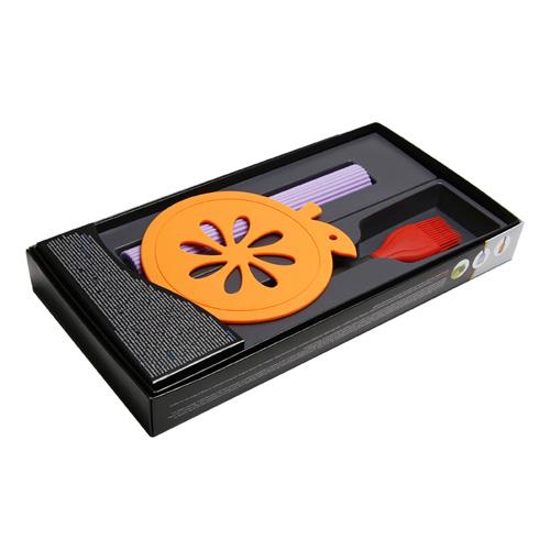 MT-5013 실리콘 주방용품 3종세트 (냄비받침+김밥말이+요리용솔)