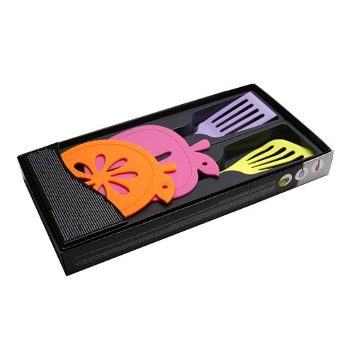 MT-5012 실리콘 주방용품 4종세트 (냄비받침2+사각뒤지개+삼각뒤지개)