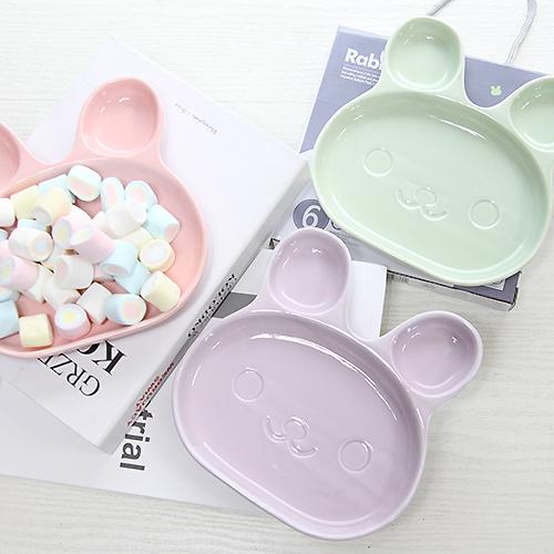 토끼 도자기 접시 1ps