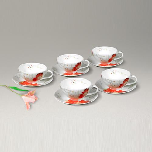 밀양도자기 커피잔 10p(유피레드)