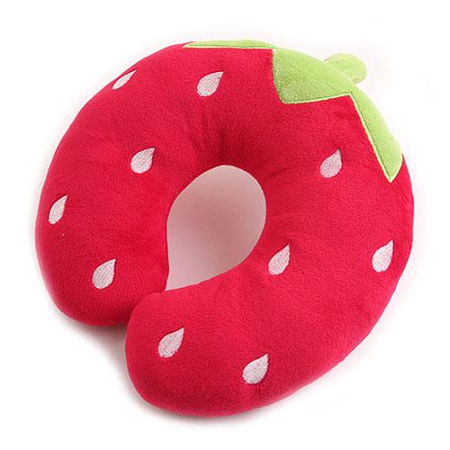극세사 목베개-딸기