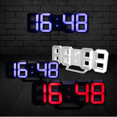 3D LED 미니 탁상&벽시계(리모콘)