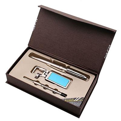 히든메탈열쇠고리(블루)+훈민정음펜A형(은장)