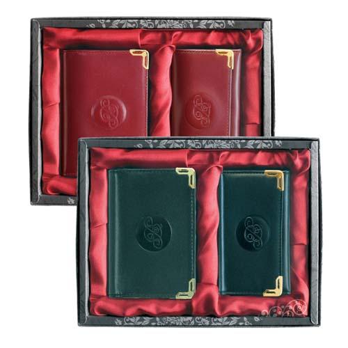 3단키홀더+명함지갑(레드) 꽃무늬  (검정,레드)