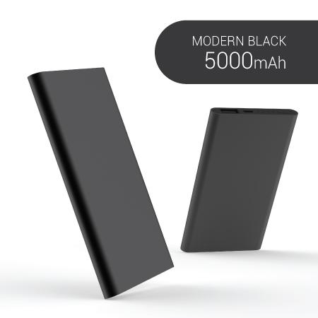 모던 메탈 블랙 보조배터리 5000mAh