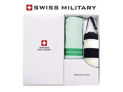 스위스밀리터리 5단수동 네이비스트라이프 + 120g면사타올 세트