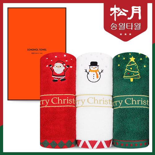 송월타올 메리크리스마스 타올 1p