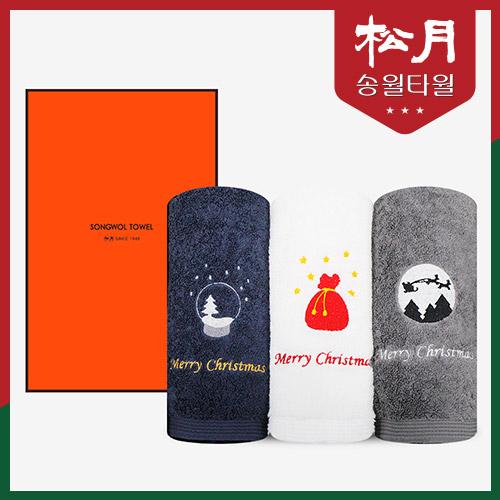 [송월타올] 크리스마스 실버벨 1P 세트+고급케이스 포함