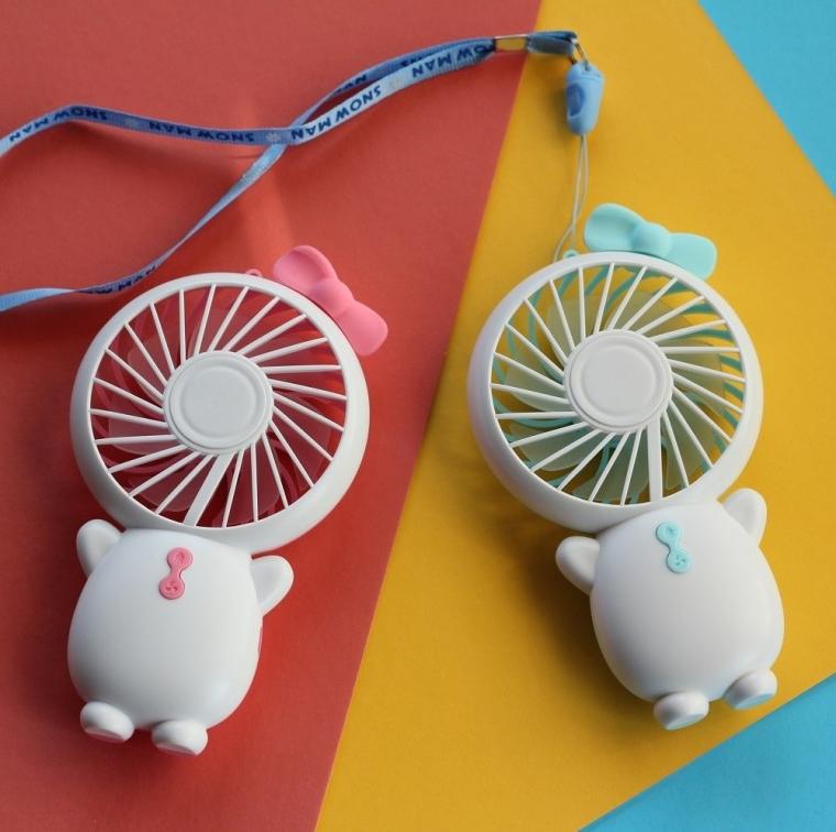 led 스노우맨 미니선풍기 휴대용선풍기 손선풍기
