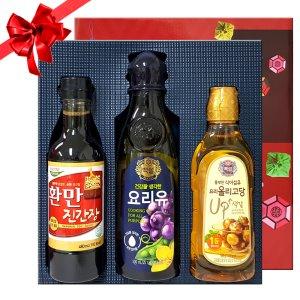 CJ 백설 우정3호(청정원간장+견과유+올리고당) 실속선물세트