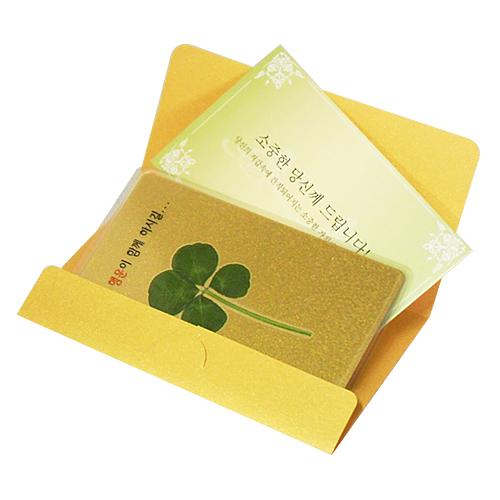 행운의 네잎클로버생화 VIP황금카드